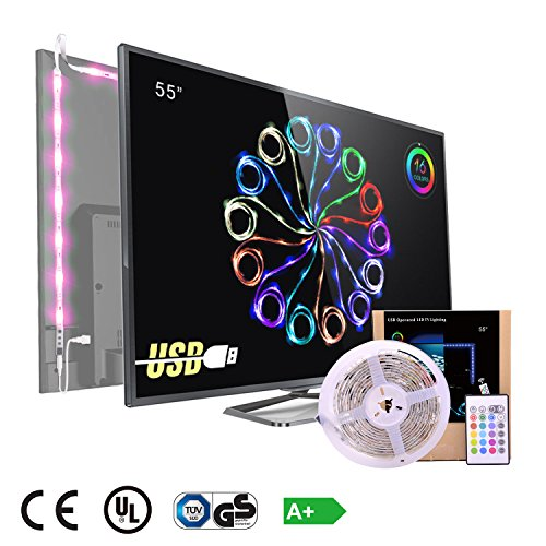 Pangtong Villa 5050 Led light Strip TV Backlight for 55 Inch,Pack of 4 Pre Cut