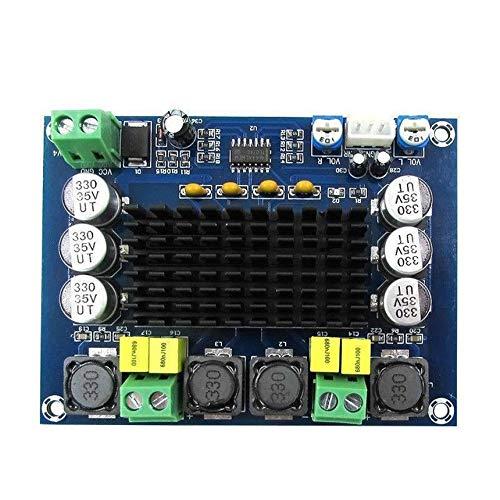 12V-24V Small Size TPA3116 D2 120W+120W Dual-Channel Stereo Digital Audio Power Amplifier Module Board - Blue & Black Black-power-chip