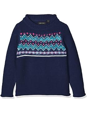 Blue Seven Weicher Mädchen Pullover Mit Ethnomotiv Und Federgarn, Felpa Bambina