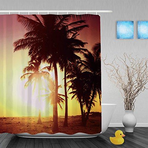 Bellissimo Mare e cielo tramonto bagno tende da doccia impermeabile muffa resistente poliestere tessuto blu 91,4x 182,9cm