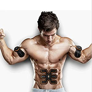 Muscle stimulator Massage Belts Electric Stimulators Muscle Toner, EMS Abs Trainer, Abdominal Toning Belts, Gym Workout And Home Fitness Apparatus For Men Women, Body Fitness Training Slimming Machine