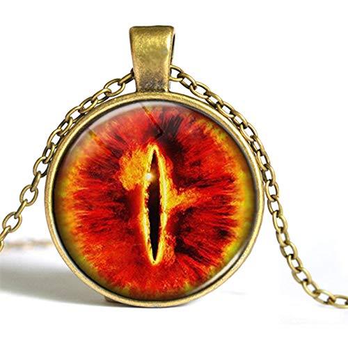 Auge Kostüm Von Sauron - DADATU Halsketten für Herren Westlichen Schmuck Auge Sauron Zeit Edelstein Halskette