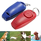 UEETEK PET-Training Clicker Haustier Klick Hundepfeife - Hund Clicker-Training (rot)