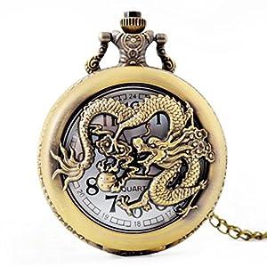 SW Watches Unisex Taschenuhr Mit Chian, Bronze Anhänger Herren Taschenuhr Für Geschenke