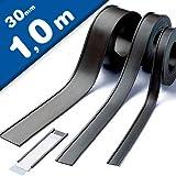 Magnet C-Profil Magnetische Etikettenhalter für Labels/Etiketten Lagerbeschriftung - 30mm breit - Meterware - Ideal zur mobilen Kennzeichnung und Beschriftung