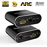 stca 3D ONEDAY HDMI-HDMI+Audio(SPDIF and R/L)+ ARC Converter Support 4Kx2K at 60Hz for Multi Audio Modes(PASS/2.1CH/5.1CH)(Black)