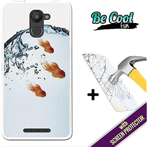 Becool® Fun - Funda Gel Flexible para Bq Aquaris U Plus, [ +1 Protector Cristal Vidrio Templado ] Carcasa TPU fabricada con la mejor Silicona, protege y se adapta a la perfección a tu Smartphone y con nuestro exclusivo diseño. Pez dorado