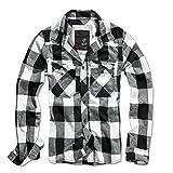 Brandit Check Shirt Herren Baumwoll Hemd XL Weiss-schwarz