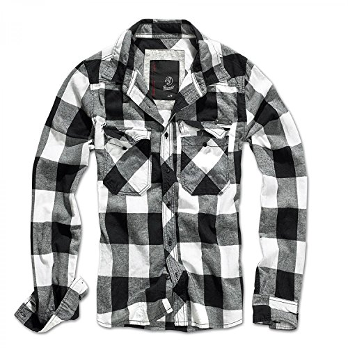 Brandit check shirt weiss-schwarz l