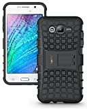 #6: Heartly Flip Kick Stand Spider Hard Dual Rugged Armor Back Case Cover For Samsung Galaxy J7 Sm-J700F 2015 - Rugged Black