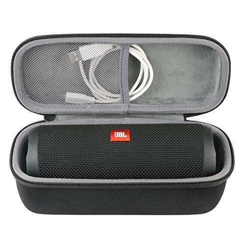 co2CREA Voyage Stockage Porter Étui Housse Case pour JBL Flip 5 Enceinte Bluetooth Portable (External Black,Interior Grey)