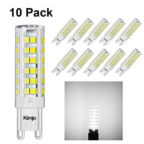 Lampadine LED G9 LED 7W Kimjo Equivalente 60W Lampada Alogena Bianco Fredda 6000K 500LM 80Ra 230V Non Dimmerabile 10 Pezzi