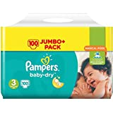 Pampers Baby-Dry Taille 3 couches 100 Jumbo Lot