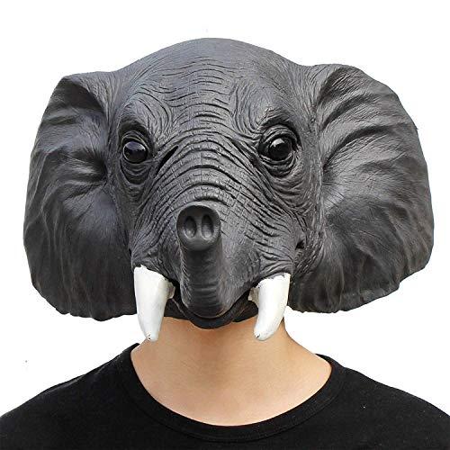 Lixinfushi Máscara De Elefante, Máscara De Goma De Látex De La Novedad, Máscara Principal Animal del Bosque De Halloween Decoraciones del Traje De Halloween