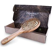 Brosse à Cheveux en Bambou Plate Dans une Boîte Respectueuse de L'environnement, Brosse Démêlante Naturelle Pour Tous Types de Cheveux, Les Poils en Bambou Massent le Cuir Chevelu, Commandez la Vôtre !