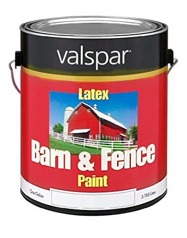 1 Gallon Red Exterior Barn & Fence Latex Paint 18-3121-10 GL by Valspar