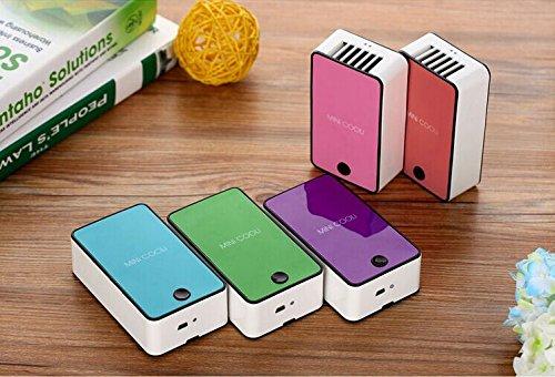 Mini Hand Handliche USB- Cool Luefter Klimaanlage Tragbare Luefterelektrische Lüfter mit ABS-Kunststoff Kuehlung Klimaanlage (orange) - 2