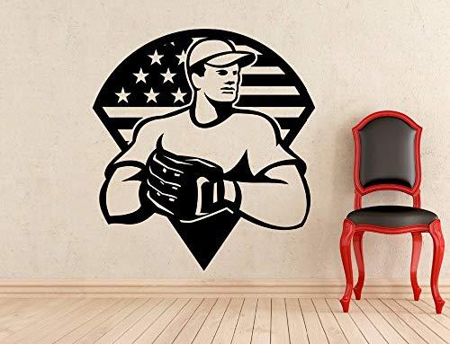 Wandaufkleber American Decor Vinyl Kunst Wohnkultur Abnehmbare Dekoration Jungen Poster Sport Aufkleber Wandbildcm 78x72cm