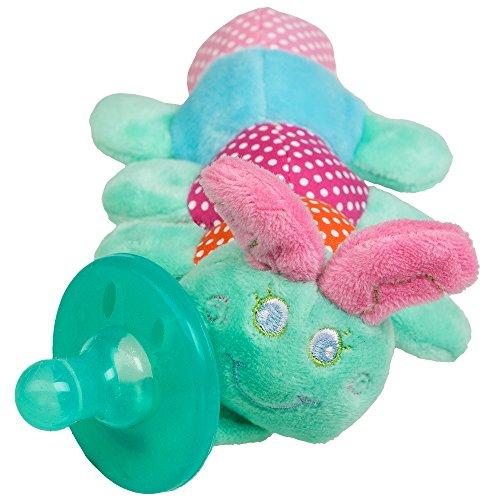 Kuscheltier Schnuller mit 7 verschiedenen Designs für Neugeborene Babys - Plüschtier Schnuller ab 0 Monate (Raupe) - Kuscheltier Giraffe 36