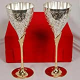 House Of Gifts German Silver Wine Glasses (Set of 2)