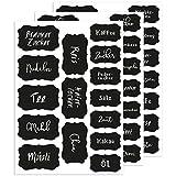 Wandkings Küchenetiketten - Sticker für das Gewürzglas Einmachglas Dosen uvm - 45 Sticker