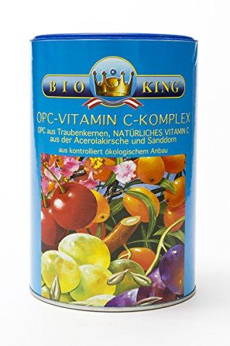 Bio-c-vitamin-komplex (BioKing 500g OPC-Vitamin C-Komplex, Pulver zur Nahrungsergänzung aus kontrolliert ökologischem Anbau)