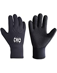 3mm Neoprene Wetsuit Gloves - Adult Elastic Warm Scuba Diving Glove - Snorkel Gloves for Surf Kayak Diving Watersports