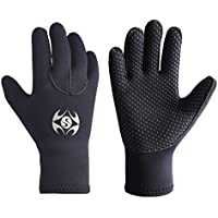 Slyzone 3mm Neoprene Wetsuit Gloves - Adult Elastic Warm Scuba Diving Glove - Snorkel Gloves for Surf Kayak Diving Watersports