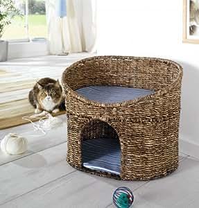 Panier-niche pour chat avec coussins pour petit gabarit
