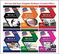 Neeraj Publication MCO-1, MCO-3, MCO-4, MCO-5, MCO-6, MCO-7 (M.Com 2nd Year Combo in English Medium) - Reference Books for IGNOU Syllabus [Flexibound] IGNOU