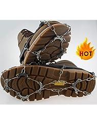 Crampones, Cozyswan 10dientes antideslizante hielo nieve tracción para botas de tacos seguro proteger zapatos botas