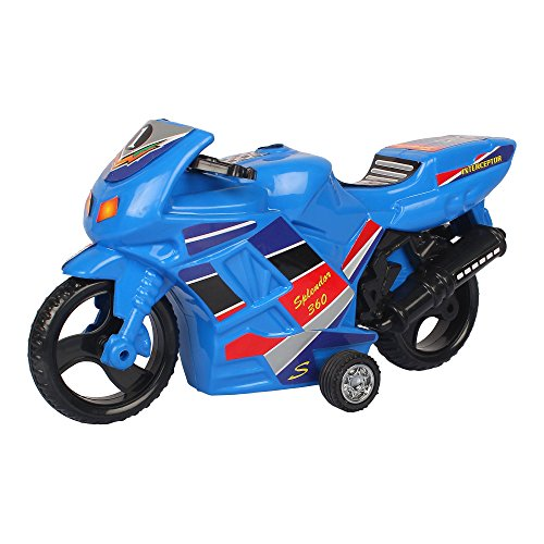 Deal Bindaas Plastic Shinsei Pull Back Splendor 360 Bike (Blue)