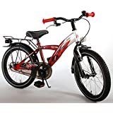 Bicicleta Niño 18 Pulgadas Thombike con y Portaequipajes Trasera Rojo Plata