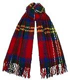 Tartan Traditions Red Royal Stewart Tartan Boucle Large Blanket Scarf