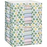 Ensemble de 2 boîtes de rangement pliable Boite de vêtement Boîte de finition durable, verte