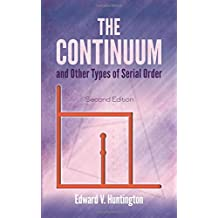 The Continuum and Other Types of Serial Order: Second Edition (Dover Books on Mathematics)