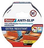 tesa Anti-Rutschband / Antirutsch Klebeband transparent / robuste Antirutschstreifen für Treppen / 1 x 5m