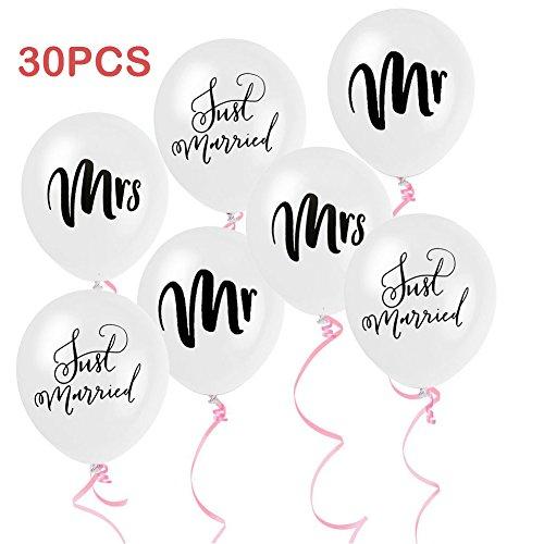 Mr und Mrs Luftballons 30 stücke 10 Zoll Nur Verheiratet Herr und Frau Hochzeit Ballons Hochzeit Dekoration Globos Marrige Brautdusche Foto Requisiten Kulissen