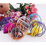 Hot Playing Toys False Mouse in Rat Cage Ball For Pet Cat Kitten Gift