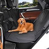 Alfheim Dog Coprisedili per Auto Impermeabile e Amaca Convertibile, Nero