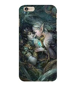 ColourCraft Loving Couple Design Back Case Cover for APPLE IPHONE 6S PLUS