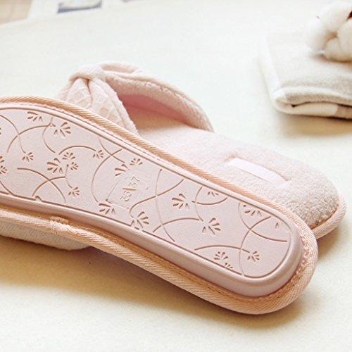 Velluto Eleganti Pantofole Fortunings Aperto Donne Forma Piatti Casa Di Rosa Jds Fiocco Flop Di Tallone Sandali Delle Signore Delle HxqprwYPXq
