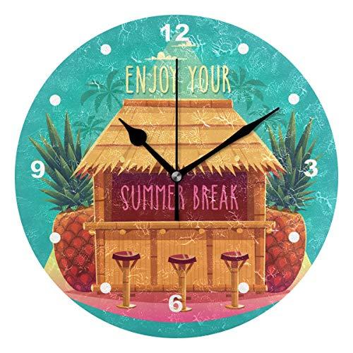 Regal Insel Licht (SUNOP Uhr für Kinder, mit Öl Bedruckt, 1 Hawaii-Inseln, Wanduhren für Wohnzimmer, Schlafzimmer und Küche, Vintage Schreibtisch und Regal Uhren)