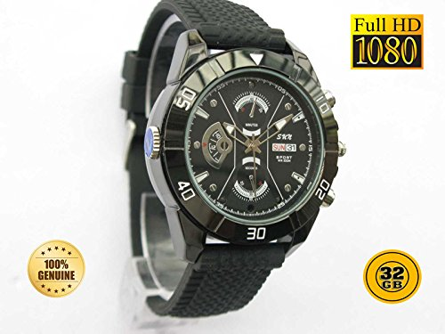 PANSIM 32GB 1080P HD Hidden Video Watch Camera Spy Night vision DVR Cam  available at amazon for Rs.12500