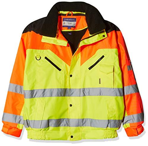 Portwest Workwear Contrast Plus Bomber Jacket - S464 - EU / UK, Yellow, 3XL - Geprüft Bomber