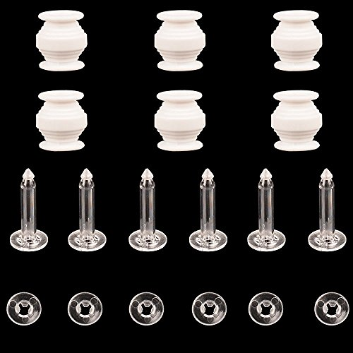Preisvergleich Produktbild Racksoy 6stk dämpfende Gummikugeln, Pins & Anti-Fallen Pins-Riegel für DJI Phantom 3 Pro Professional Standard Gimbal Anti-Vibration Anti Jello (Klar)