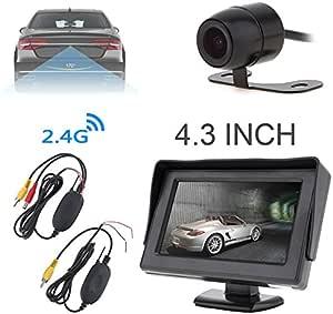 Benwei 4 3 Zoll 480 X 240 Auflösung 2 Kanal Eingang Tft Lcd Monitor 2 4 G Wireless Video Sender Und Empfänger Für Rückfahrkamera Auto