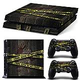 46 North Design pieno sticker della pelle skin Crime Scene per le console PS4 x 1 e controller x 2