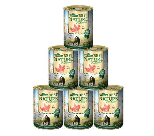 Dehner Best Nature Katzenfutter Adult, Lachs und Huhn, 6 x 400 g (2.4 kg)