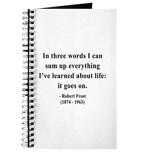 CafePress - Robert Frost 15 - Spiralgebundenes Tagebuch, persönliches Tagebuch, liniert